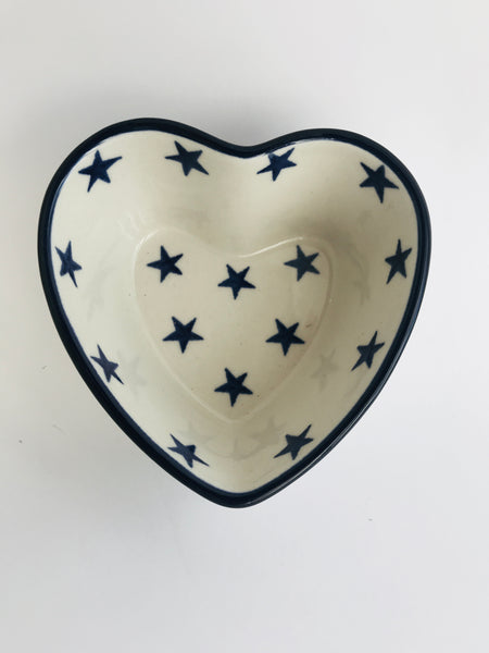 Polish Pottery Small Heart Shaped Bowl