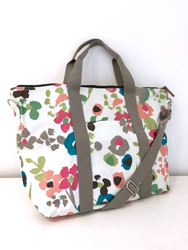 Caroline Gardner Floral Canvas Large Shoulder Bag