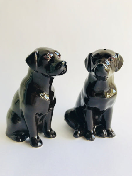 Salt & Pepper Chocolate Labrador Shakers.