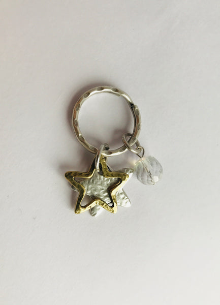 Danon Star Outline Key Ring/Bag Charm