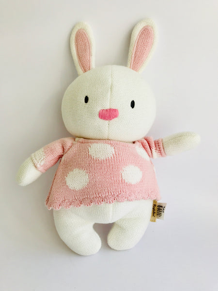 Ragtales Bunny Teddy, White/Pink