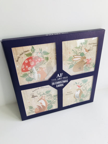 28 Woodland Animal Christmas Card Set