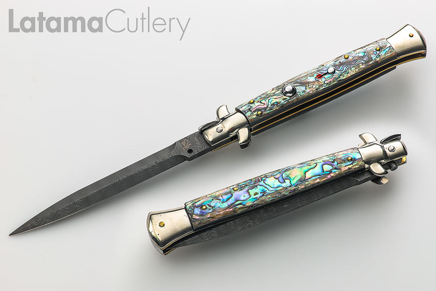 "Walt's CLASSIC 11"" Abalone NEW Dagger Damascus CL-AB-DD1101"