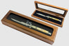 Latama Walnut Switchblade Display Box with Glass Top