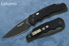Pro-Tech TR-4.F3 Black DLC CPM-D2 Feather Texture Aluminum Black Handle Automatic