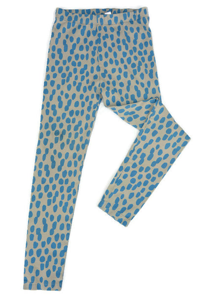 Blue Brush Strokes on Grey Leggings/ Unisex