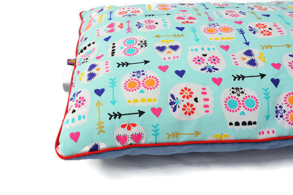 Pillow in Mexican Skulls