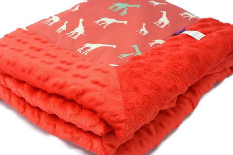 Baby Blanket Safari - Giraffes. Oh! Organic cotton!
