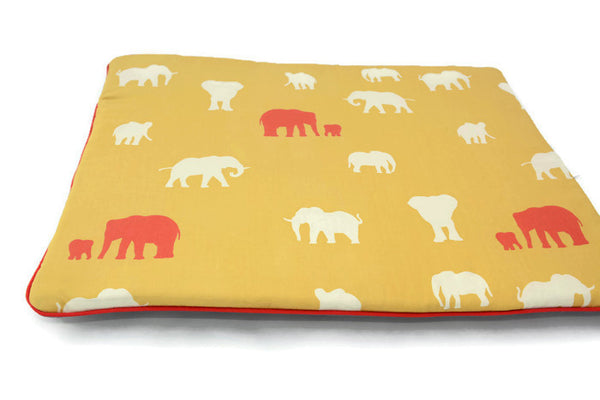 Flat Pillow For Newborns. Oh! Organic cotton! Elephant Print