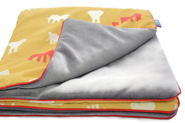 Small Baby Blanket Elephants. Oh! Organic Cotton!