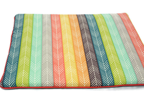 Flat Pillow for Newborn Baby. Oh! organic cotton! Ethnic Print