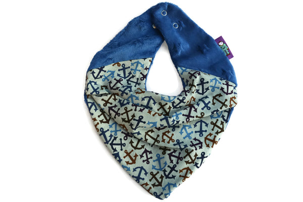 WARM NECK- Super Soft Neckerchief in Nautical Anchors