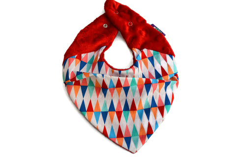 WARM NECK- Super Soft Neckerchief in wild triangles