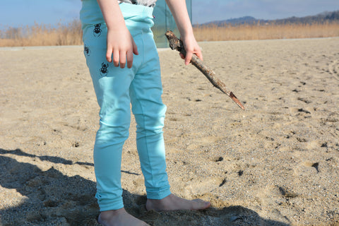 Vintage Bugs Unisex Leggings In Aquamarine