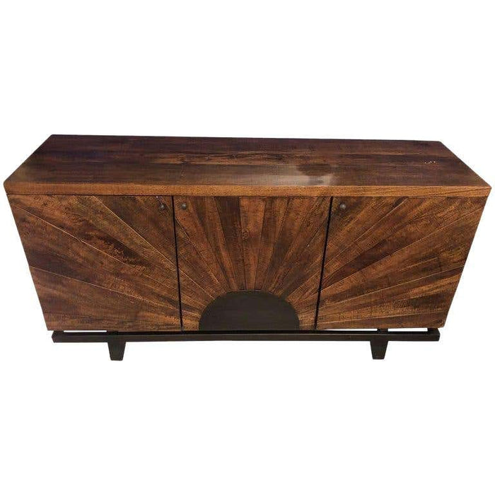 Sideboard or Server Mid-Century Modern Style with Sunburst Design