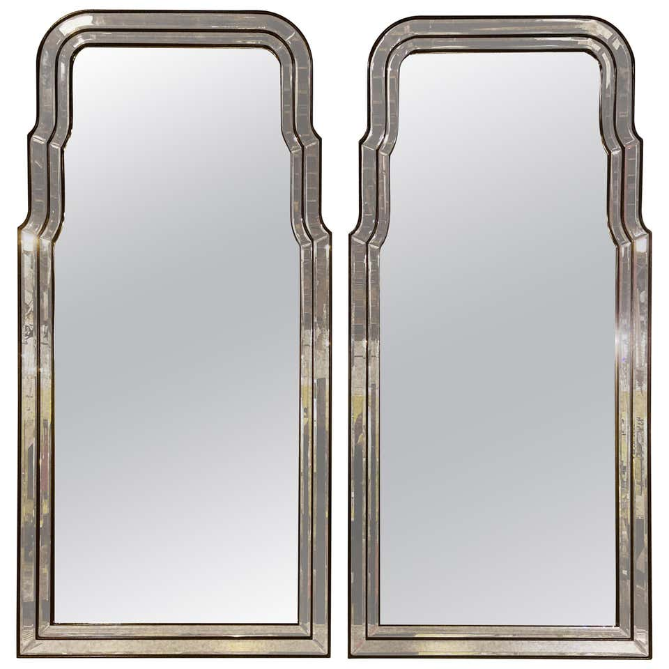 Pair of Antiqued Frame Wall or Console Mirrors