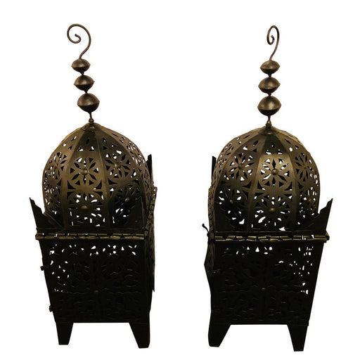 Handmade Metal Painted Black Large Floor Lanterns