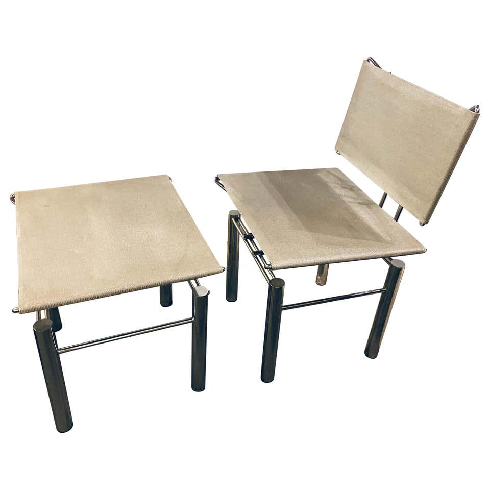 Modern Hans-Ullrich Bitsch Series 8600 Chair and Ottoman