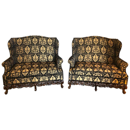 19th / Early 20th Century Settees / Canapes Rococo Style in Fine Fabric