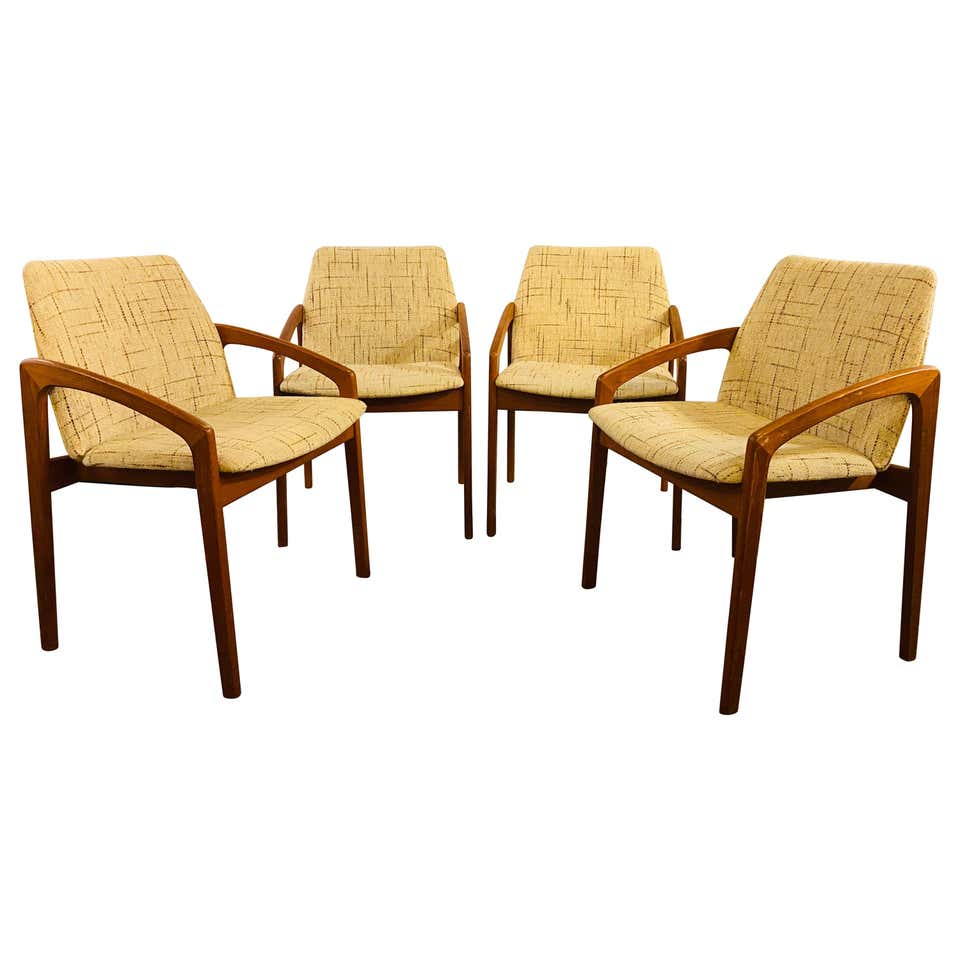 Kai Kristiansen Dining/Side Chairs, Set of Four