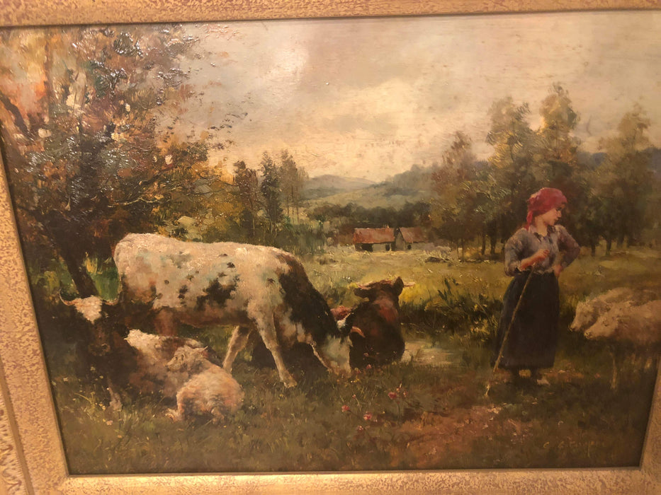 Landscape Oil on Board Painting Signed C C Cooper