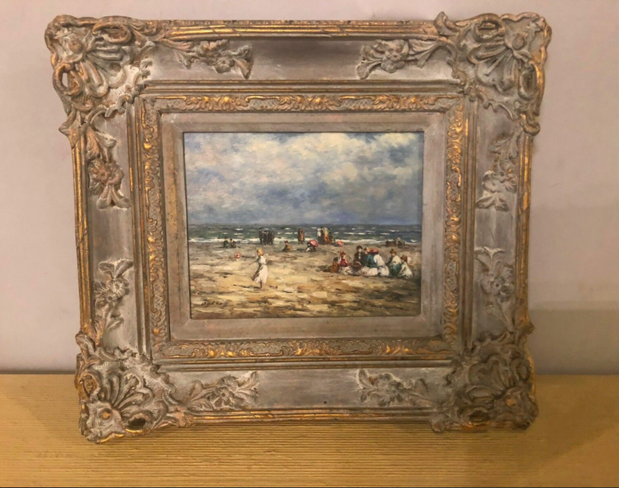 1990s Impressionistic Oil on Canvas Painting