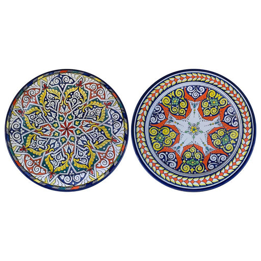 Handmade Large Ceramic Serving Decorative, Center Table Plate, Set of 2