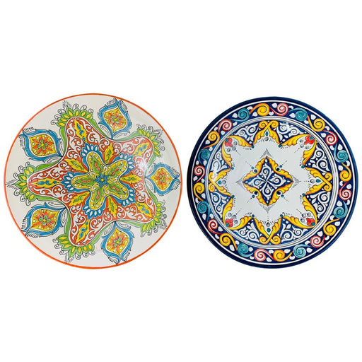 Handmade Large Ceramic Serving, Decorative or Center Table Plate, Set of 2