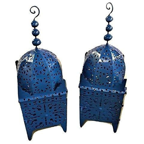 Handmade Moroccan Floor Candle Lanterns - A Pair