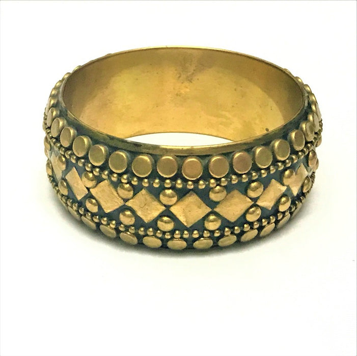 "Thick Bronze Moroccan ""Zahra"" Bangle"