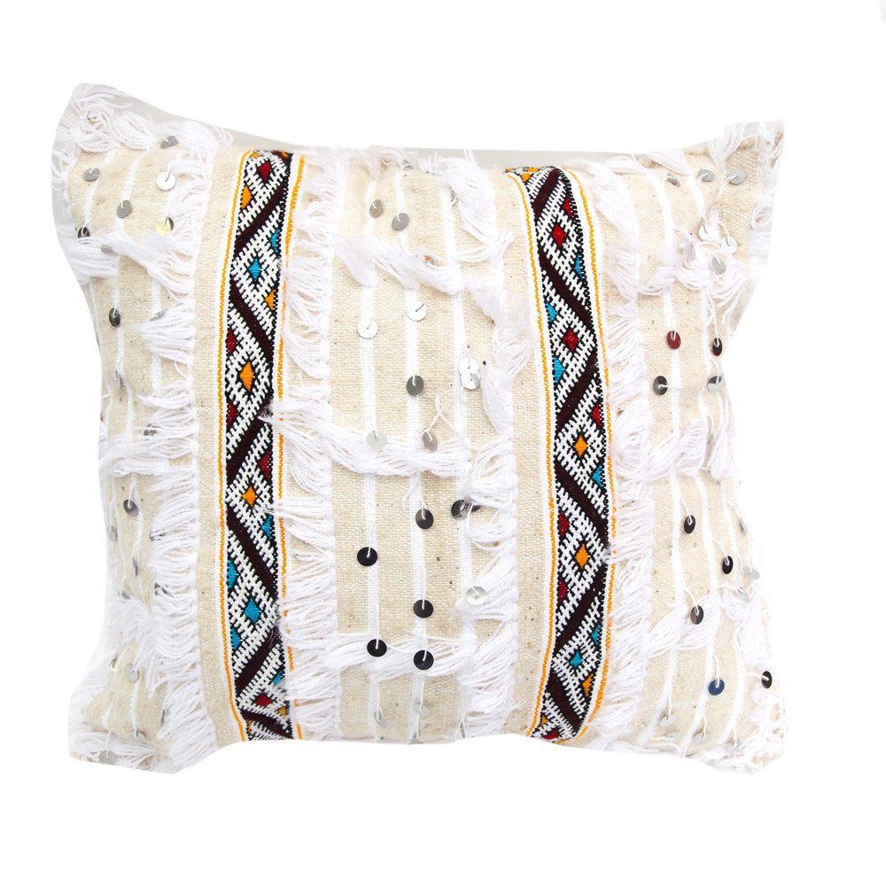 Moroccan Wedding Pillow (White)