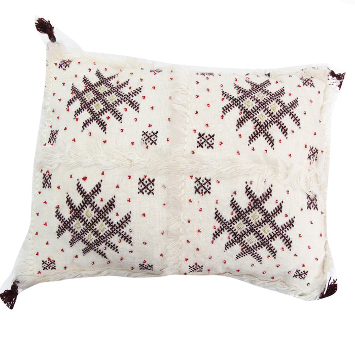 Moroccan Wedding Pillow (Red, Brown and White)