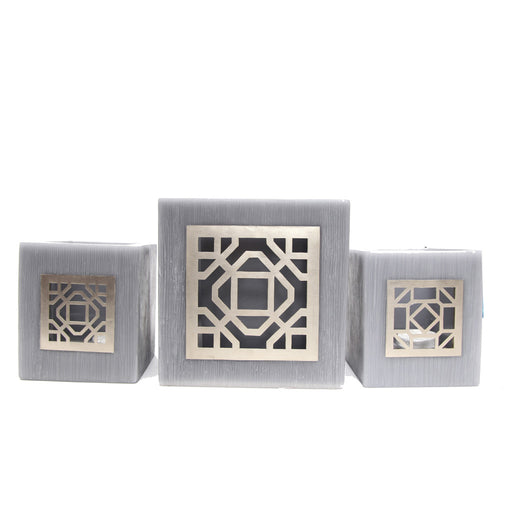 Large Grey Kasbah Tealight Holder