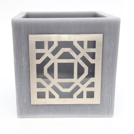 Small Grey Kasbah Tealight Holder