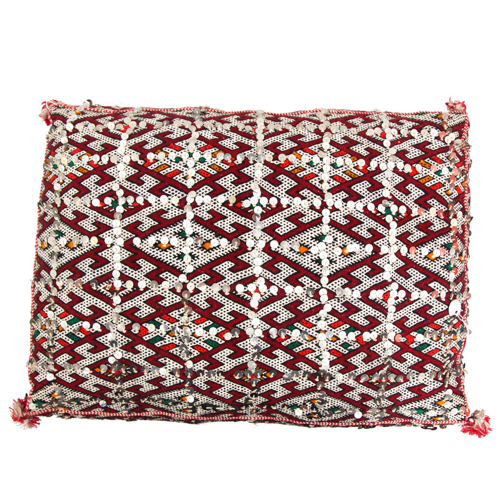 Moroccan Tribal Red Cushion