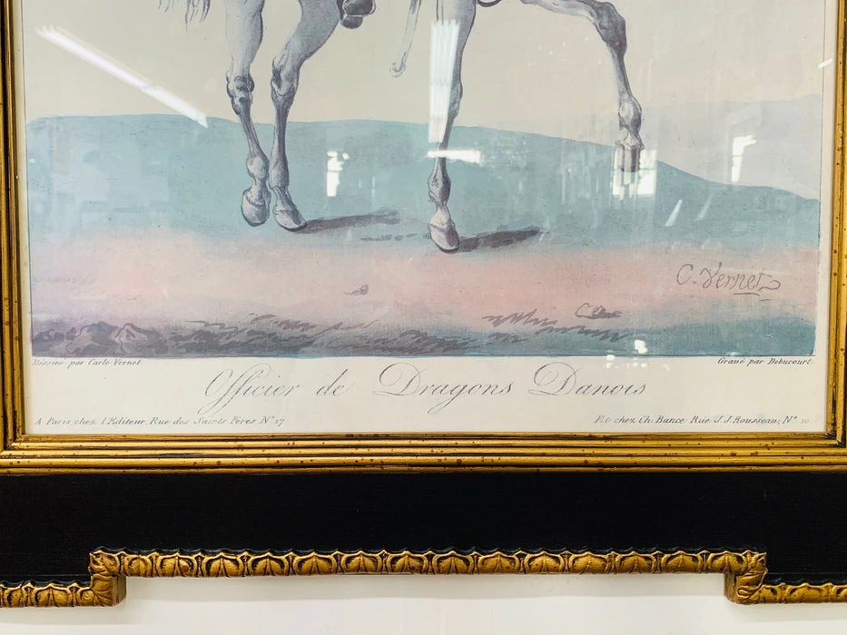 Large 19th Century French Hand-Colored Aquatints by Debucourt, a Pair