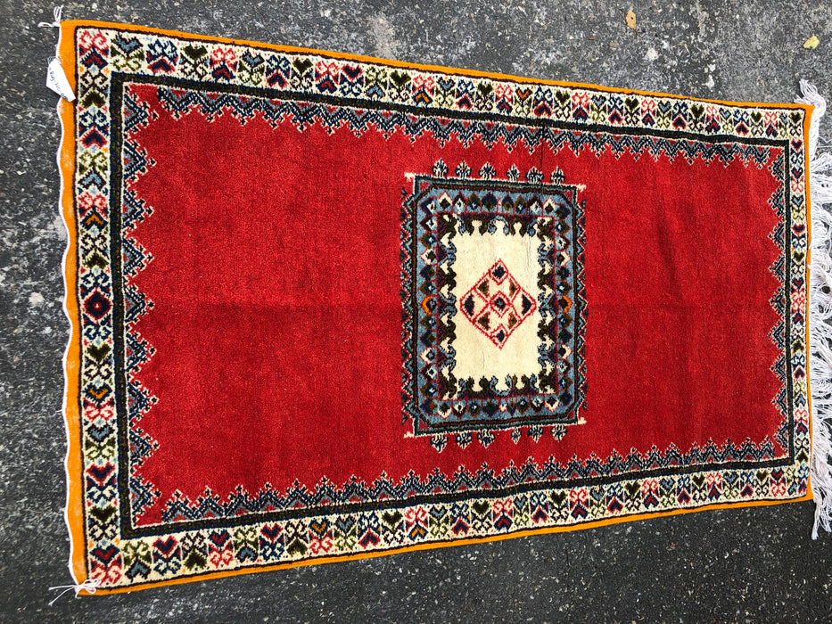 Berber Rug - Multicolor Handwoven Wool with All Natural Dye