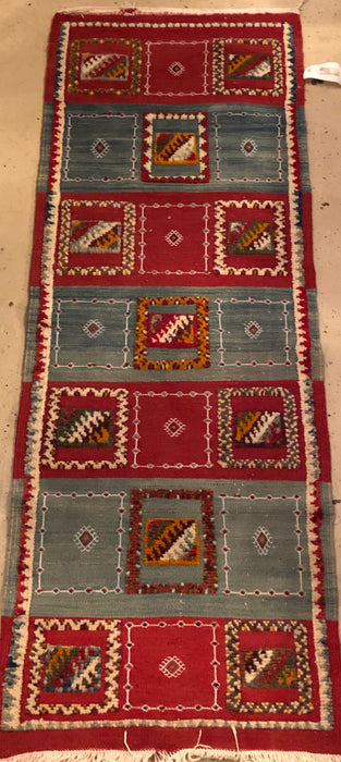 Berber Rug - Runner with Abstract and Geometric Patterns Handwoven