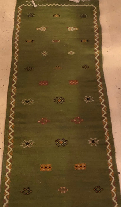Berber Rug - Runner Made From Handwoven Wool