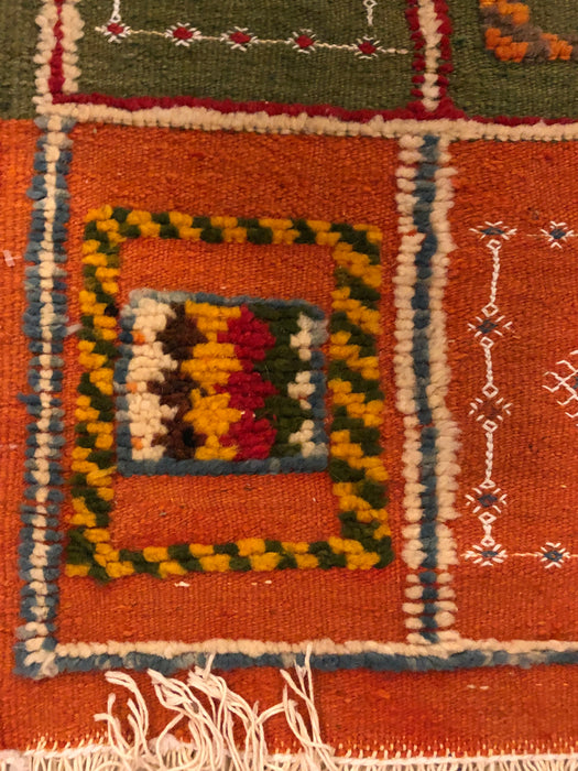 Berber Rug- Small with Abstract Elements on Panels