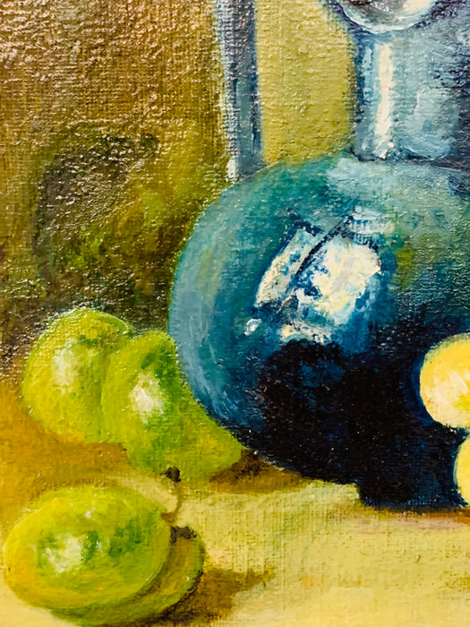 Still Life Oil on Canvas Painting Framed
