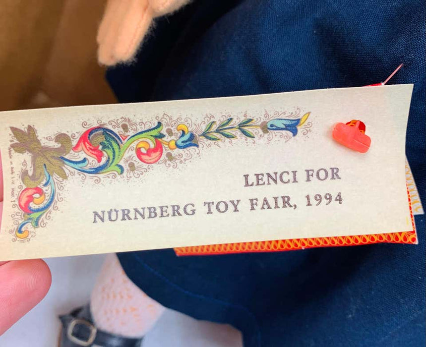 Rare Vintage 1980s Lenci Doll, Serial Number 46