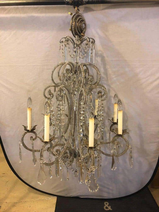 Fine Beaded and Crystal Venetian Style Chandelier