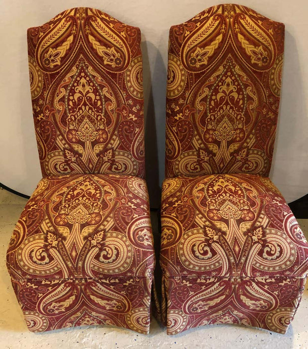 Pair of Drexel Heritage Burgundy Side Chairs in a Fine Upholstery