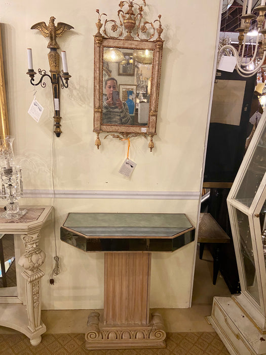 Lorin Jackson for Grosfeld House Mirror and Cerused Oak Console