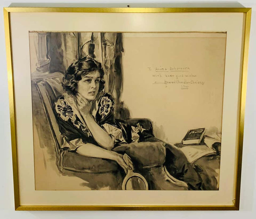 Howard Chandler Christy Portrait of a Woman 1940, signed, dated and Framed