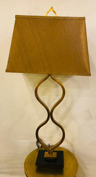 Art Deco Brass Table Lamp