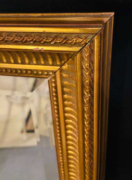 Le Barge Custom Beveled Wall Mirror with a Gilt Wood Frame