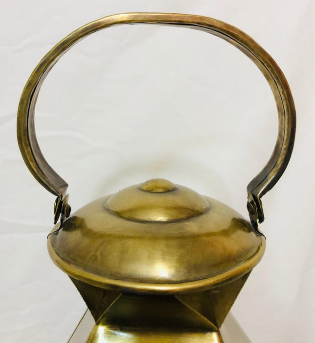 Brass Lanterns or Candleholder for Garden or Indoor, a Pair