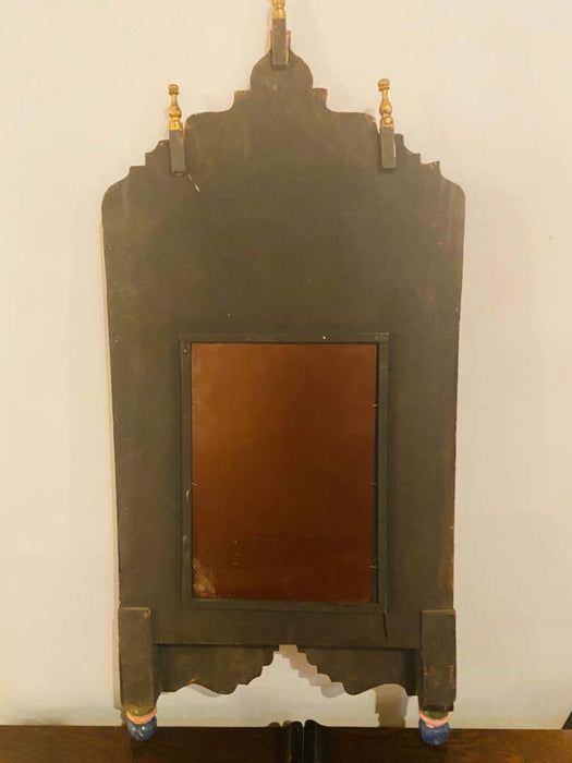 Handmade Moucharabeih Vintage Moroccan Mirror with Two Doors